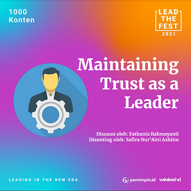Maintaining Trust as a Leader
