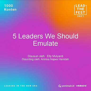 5 Leaders We Should Emulate