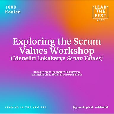Exploring the Scrum Values Workshop