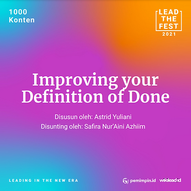 Improving your Definition of Done