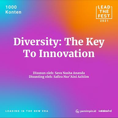 Diversity: The Key To Innovation