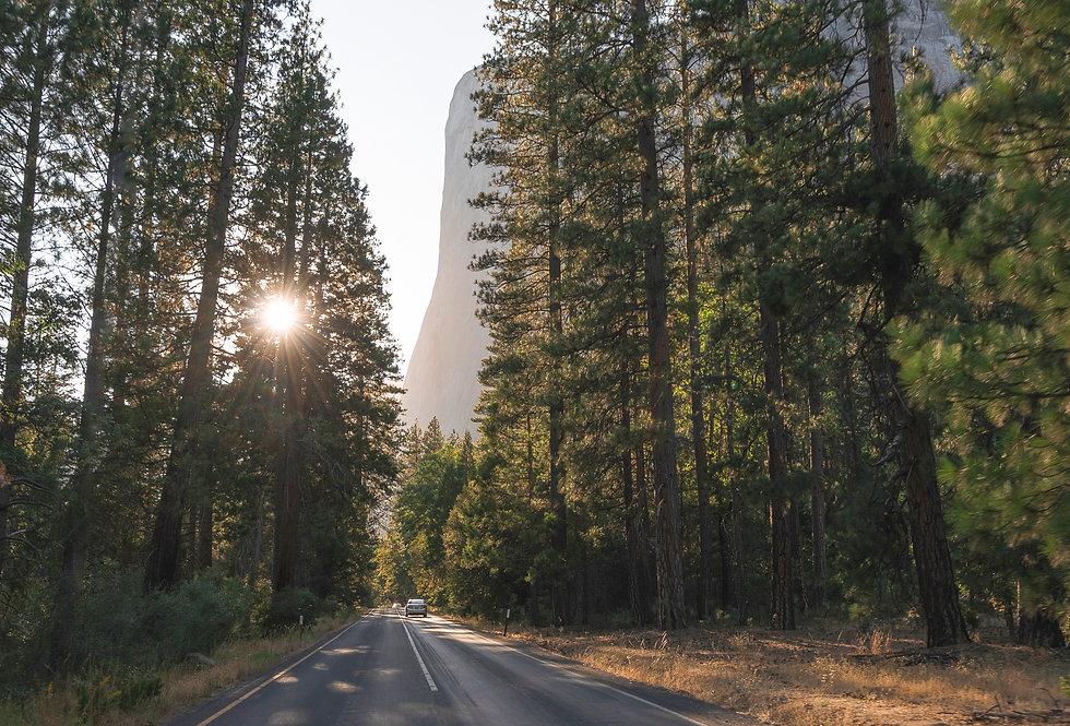 Yosemite Lights: El Cap on the Road