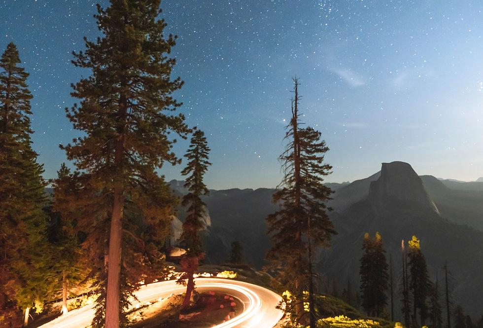 Yosemite Lights: Stars at the Bend