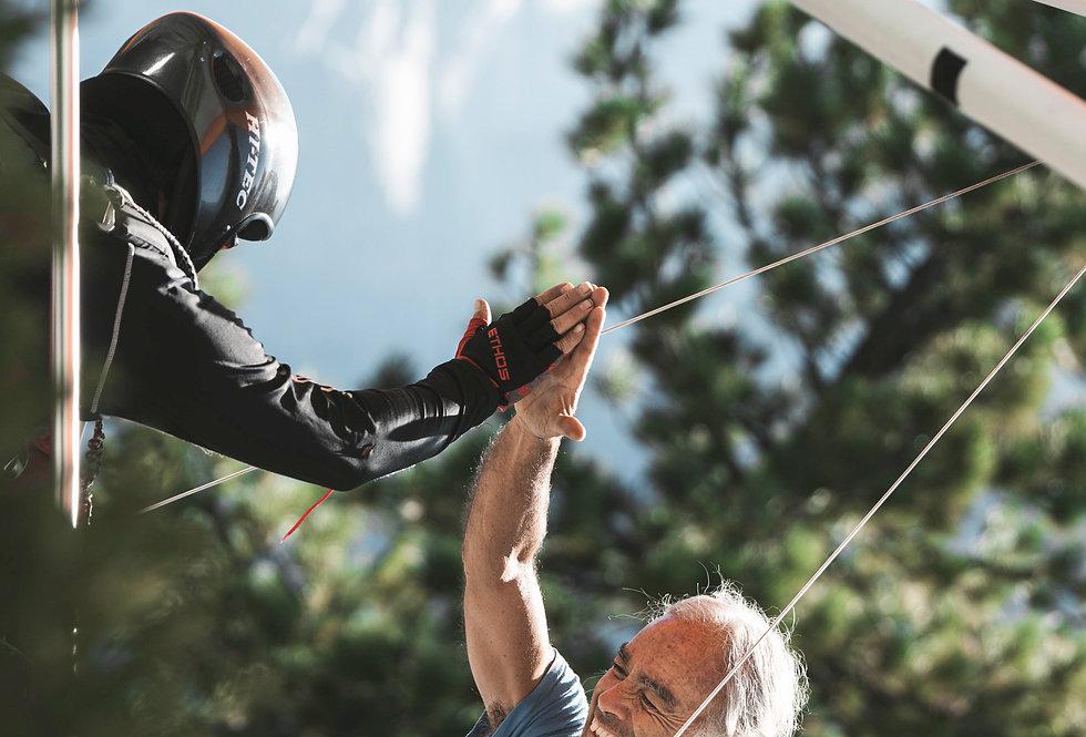 Yosemite Lights: Hang Glider High Five