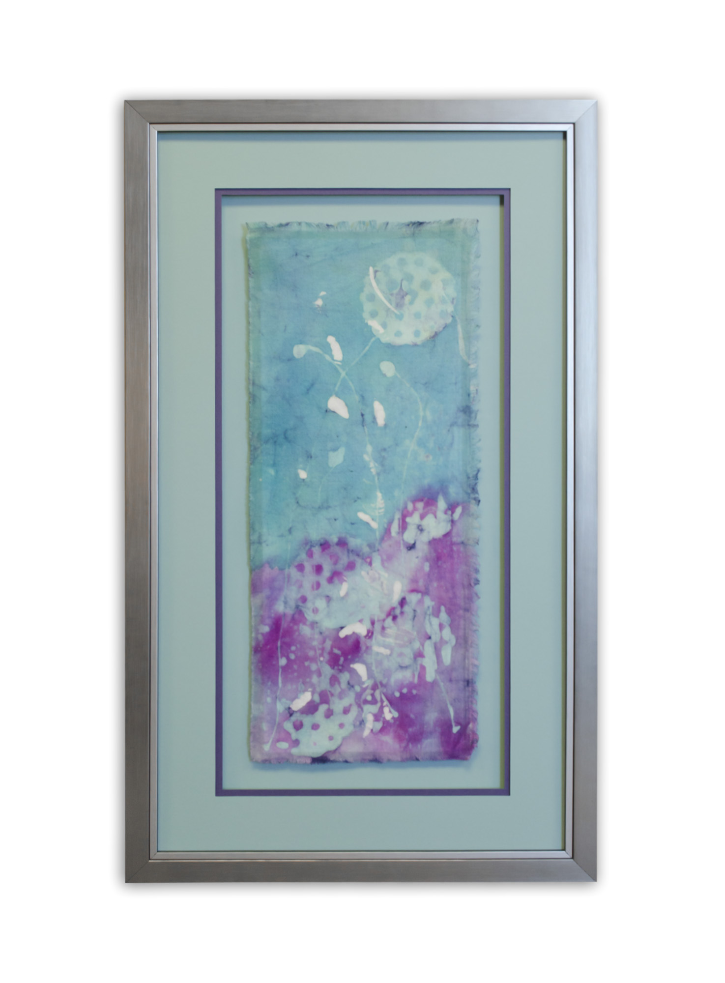 Blue and Purple Abstract Batik