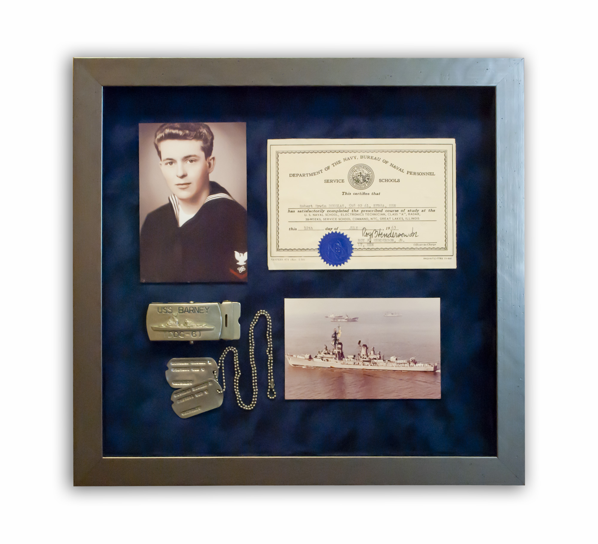 Navy Shadowbox