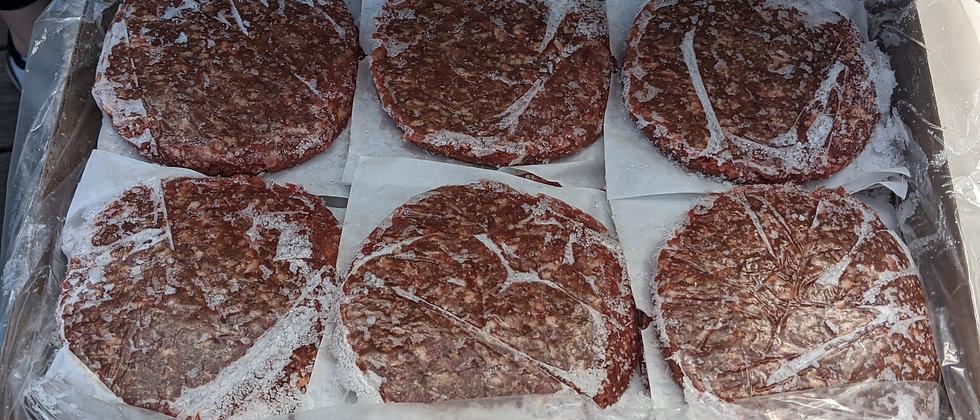 Box of Hamburger Patties