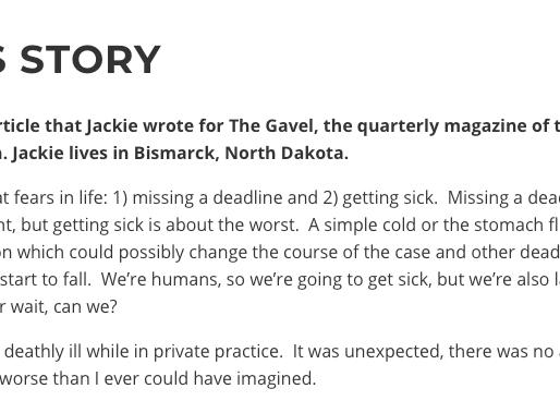 Check Jackie's writings with The Encephalitis Society