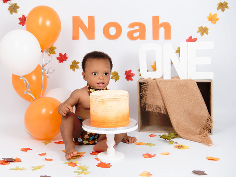 Noah, autumn cake smash