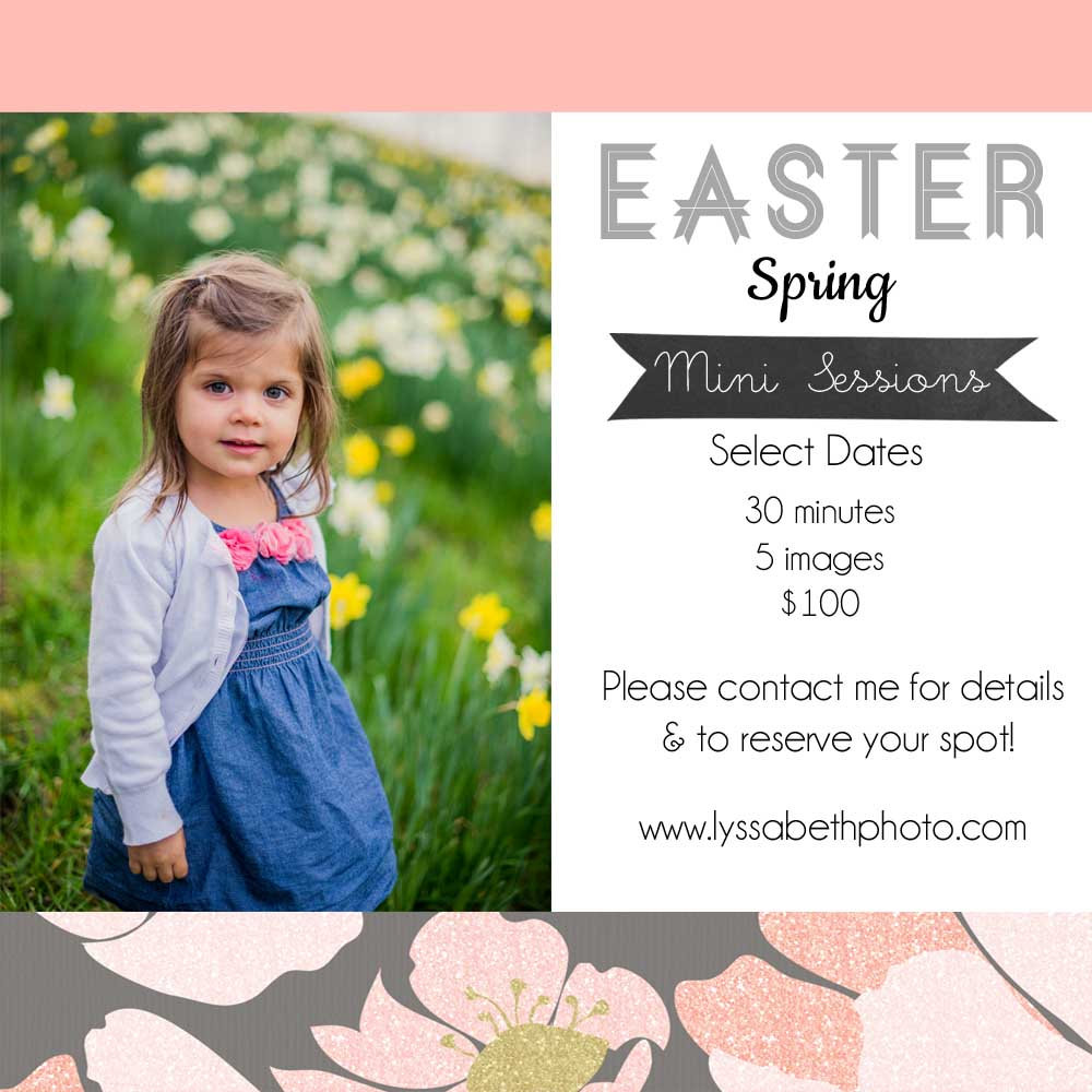 Easter Spring Mini Sessions