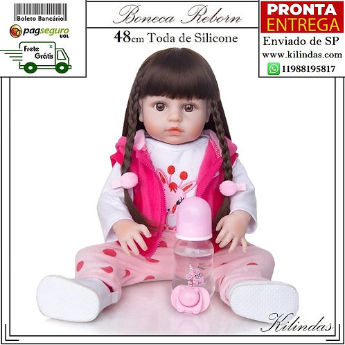 Boneca Silicone -S16 Pronta