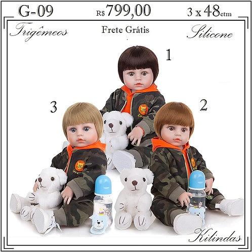Trigêmeos Silicone -G09