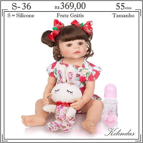 Boneca Silicone -S36