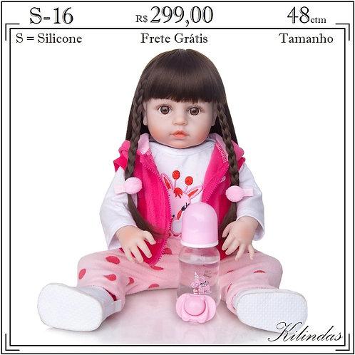 Boneca Silicone -S16 (boleto 279,00)
