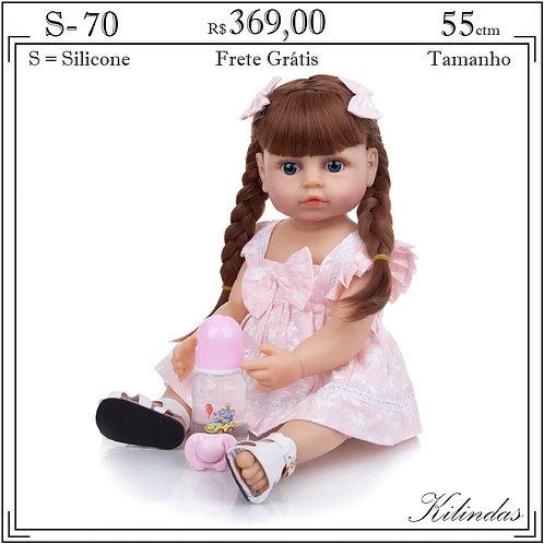 Boneca Silicone -S70