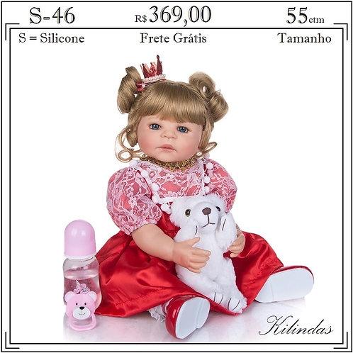 Boneca Silicone -S46