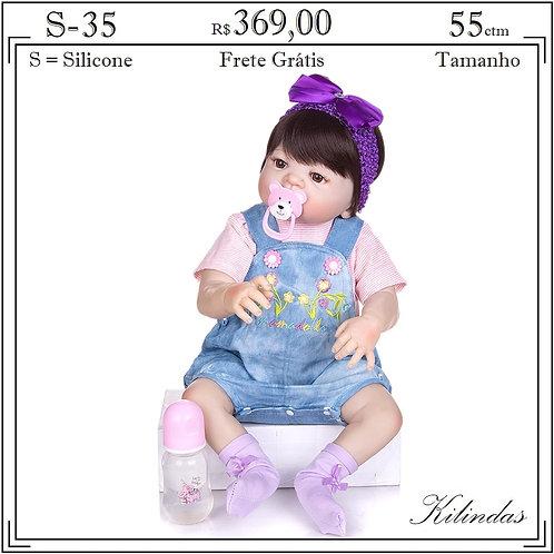Boneca Silicone -S35