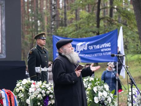 Prie Panerių memorialo paminėta Lietuvos žydų genocido aukų atminimo diena