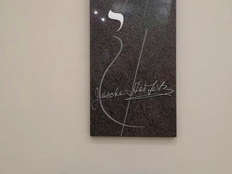 Memorialinės lentos Jašai Heifecui atidarymas