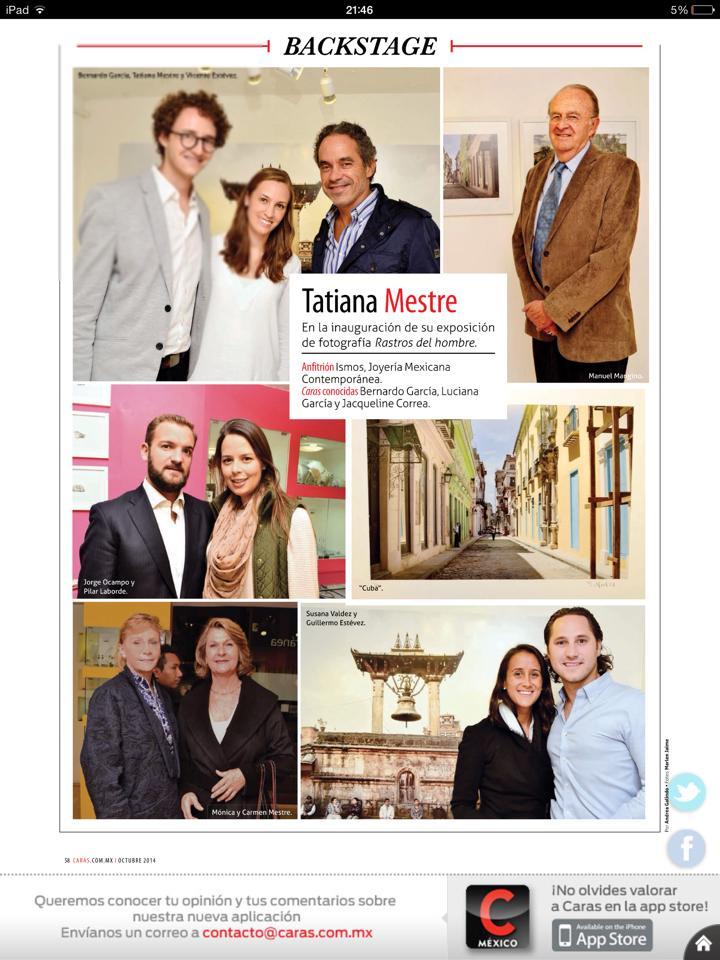 2 Tatiana Mestre en ISMOS Caras oct 2014