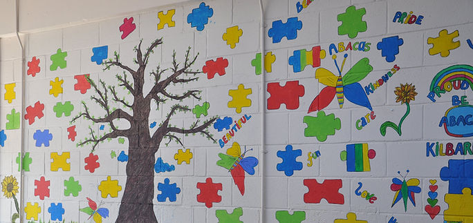 Abacas Kilbarrack School Painted Tree