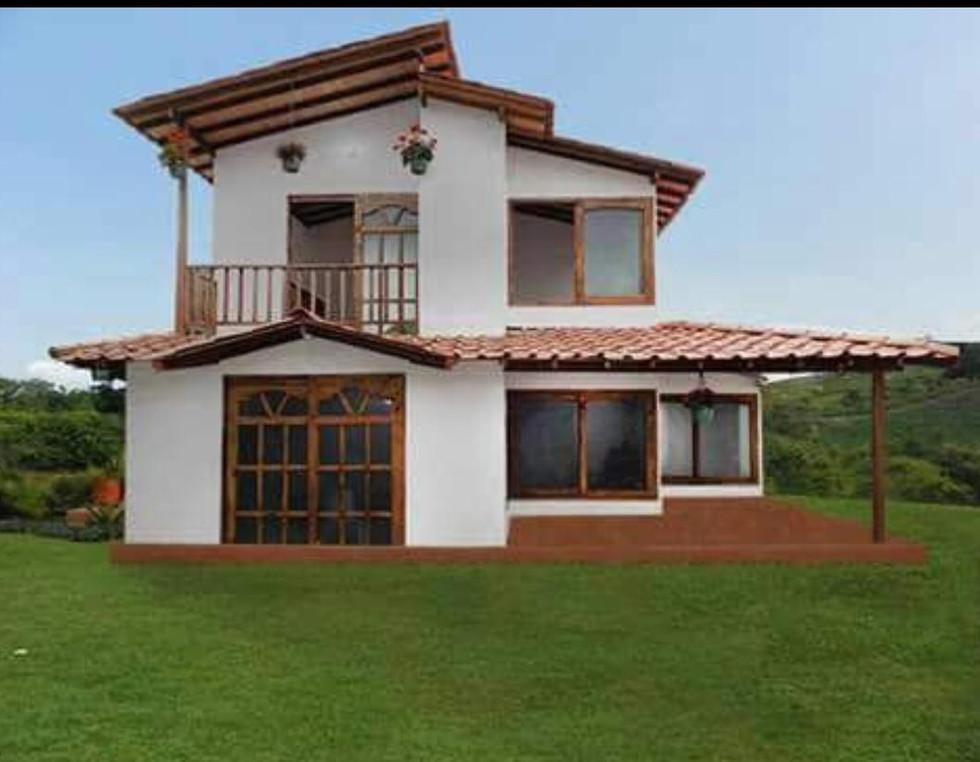 Casa campestre prefabricada dos niveles 014