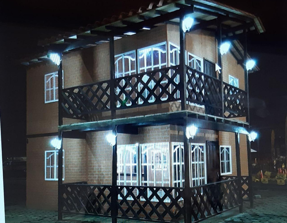 Casa campestre prefabricada dos niveles 007