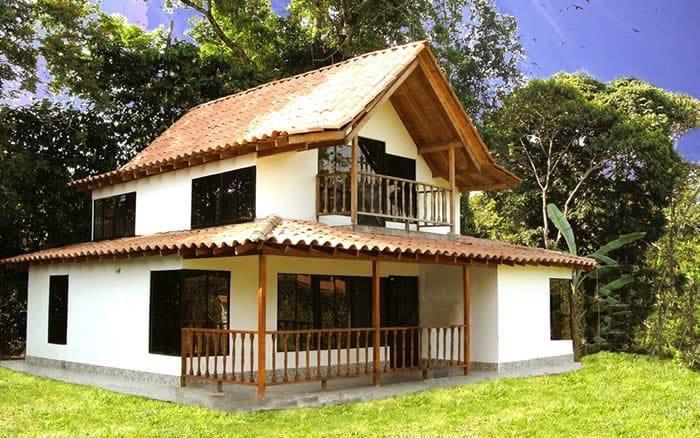 Casa campestre prefabricada dos niveles 015