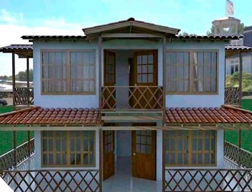 Casa campestre prefabricada dos niveles 004