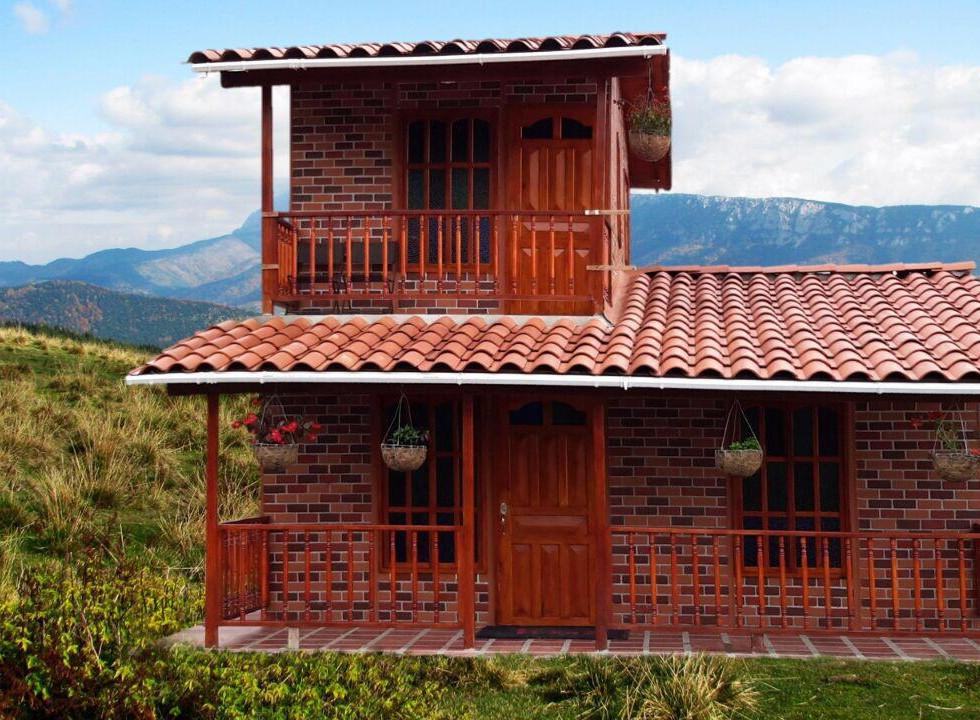 Casa campestre prefabricada dos niveles 011