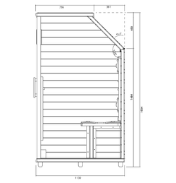 lse-3SD_vector-sideview_BT_Health-Mate_infrarood_sauna