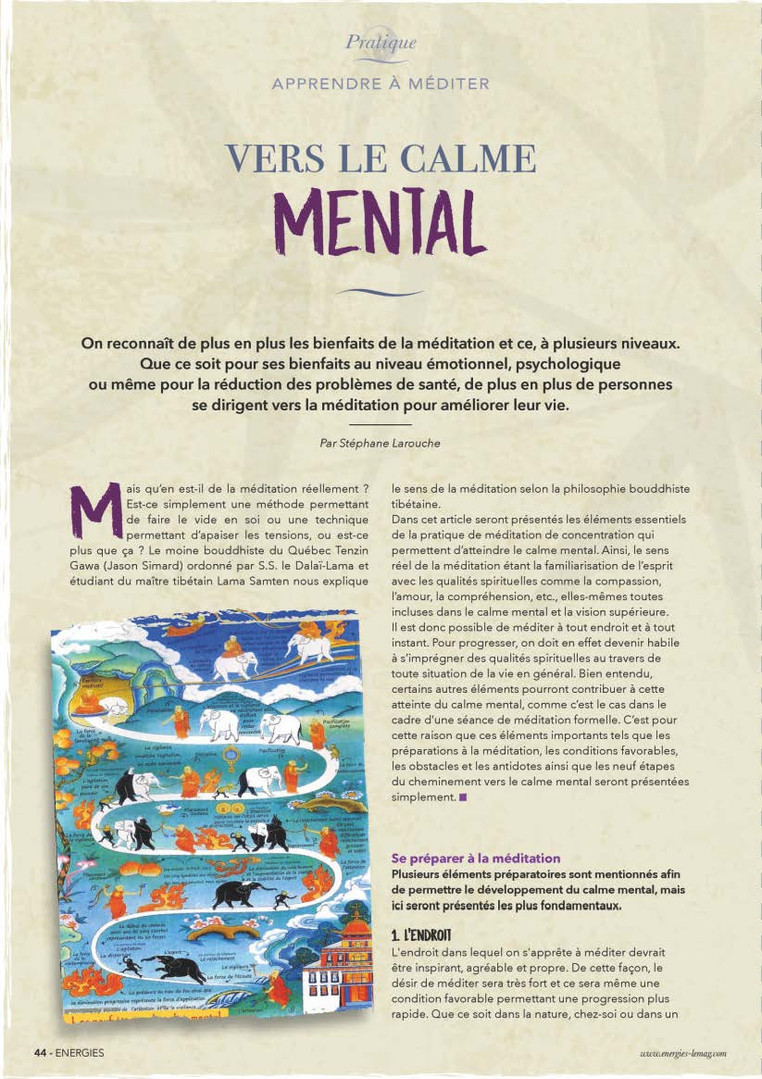 Magazine Energies #47 - La Méditation - Les Préparations