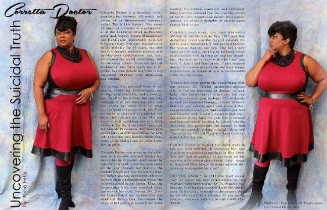 Corretta featured in DiamondDivaMag