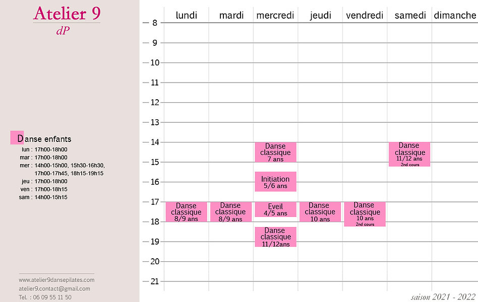 planning-des-cours-Atelier 9 DP_2021-202