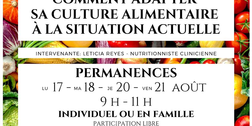 PERMANENCE -  L'alimentation au temps du Covid-19