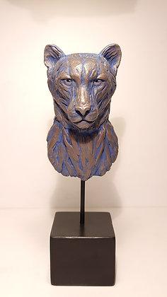 Buste guépard - Bleu des Caraïbes
