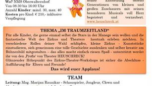 Theater- & Zirkus-Workshop mit uns HEUSCHRECKen!