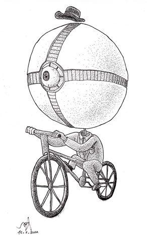 Mr. Thinkson on a Bike