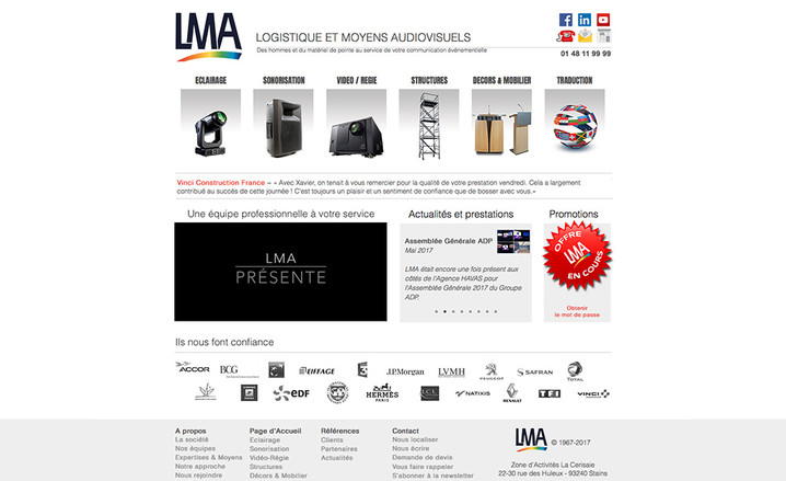 New Webdesign for LMA