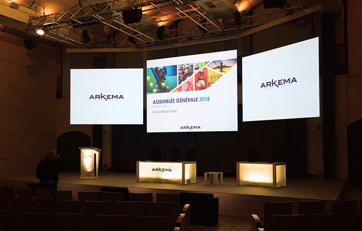 Arkema's 2018 AGM : Visual communication from A to (almost) Z