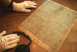 2014-09-05 23-29-25 BBC - In pictures: Salisbury's Magna Carta is 795 years old.