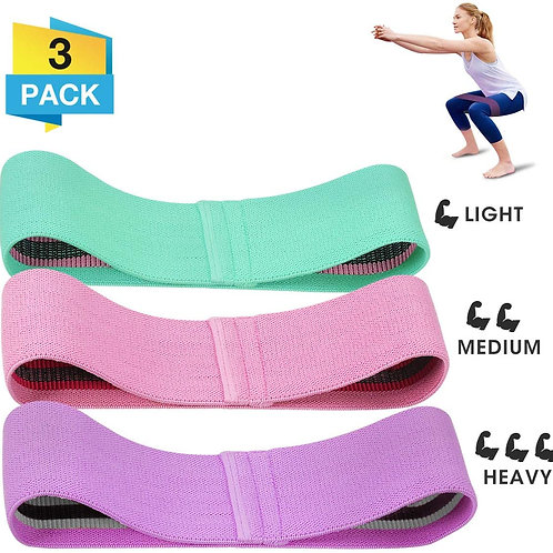 3 x Fabric Resistance Band