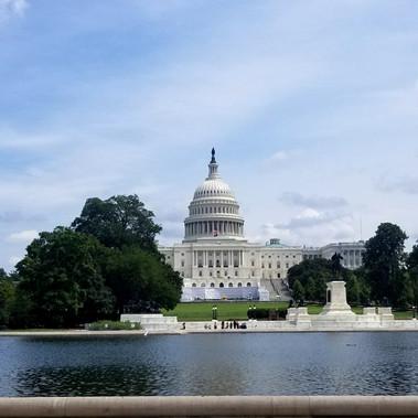 En route pour Washington D.C, États-Unis