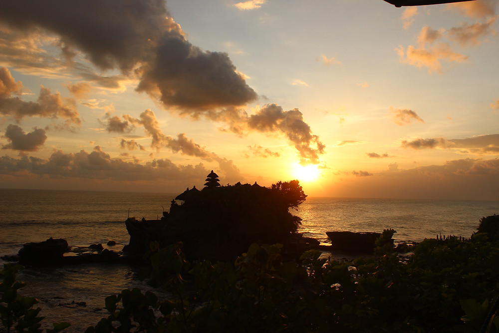 Sunset Tanah lot Bali