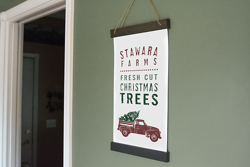 Custom Christmas Hanging Print