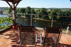 Top terrace overlooking Dordogne