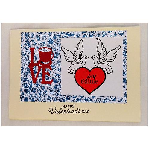 Happy Valentine's Day avec oiseaux
