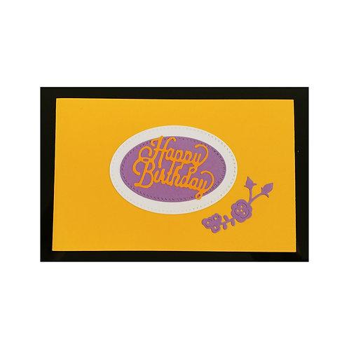 carte d'anniversaire élégante