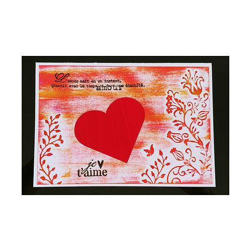 Carte Saint-Valentin avec un cœur
