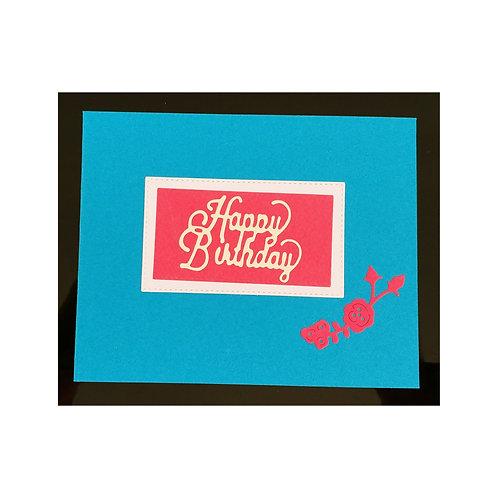 Carte anniversaire élégante